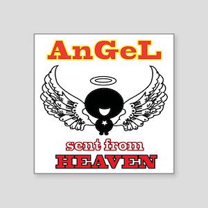 "angel  2 Square Sticker 3"" x 3"""