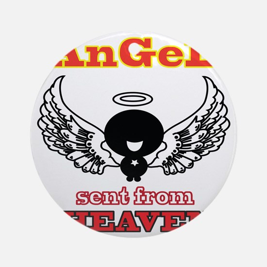 angel png 2 Round Ornament