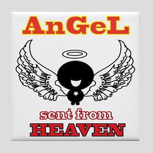 angel  2 Tile Coaster