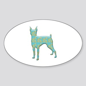 Paisley Pinscher Oval Sticker