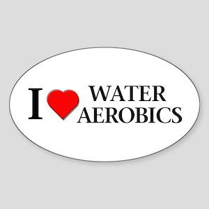 Water Aerobics Oval Sticker