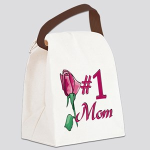 #1 Mom Canvas Lunch Bag