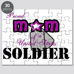 PROUD mOM sOLDIER WITH dOG tAGS copy Puzzle