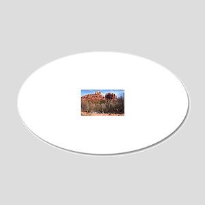 2-CathR1cov 20x12 Oval Wall Decal