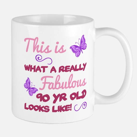 Fabulous 90th Birthday Mugs