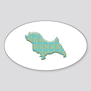 Paisley Norfolk Oval Sticker