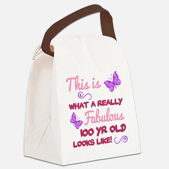 Cute 100th birthday Canvas Lunch Bag