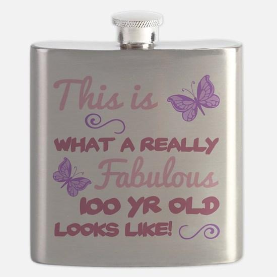 Cute 100th birthday Flask