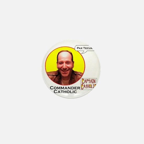 Commander Catholic - Character Spotlig Mini Button