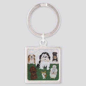 LucyandtheStreetSniffers_GV_11x11f Square Keychain