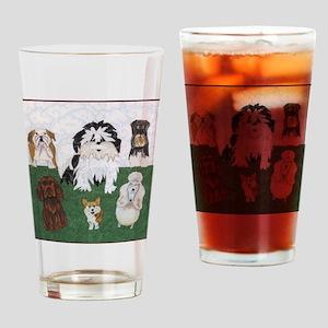 LucyandtheStreetSniffers_GV_11x11fr Drinking Glass