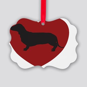 Dachund 10x10 Picture Ornament