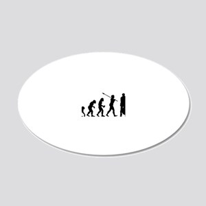 Double Bassist 20x12 Oval Wall Decal