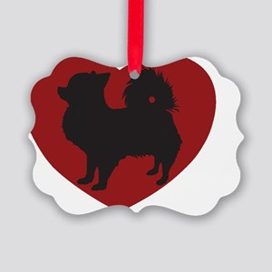 Long Haired Chihuahua 10x10 Picture Ornament
