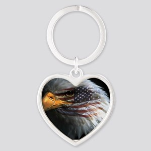 eagle with text Heart Keychain