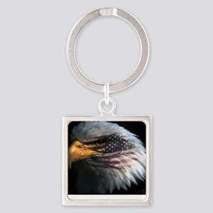 eagle with text Square Keychain