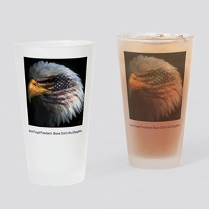 eagle with text Drinking Glass