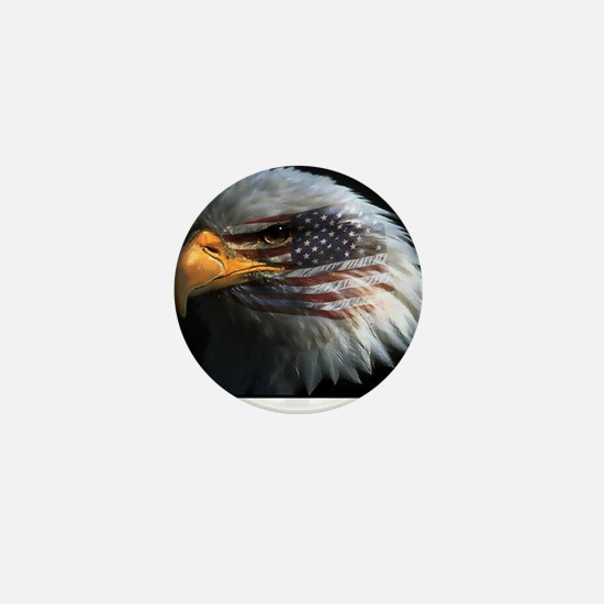 eagle with text Mini Button