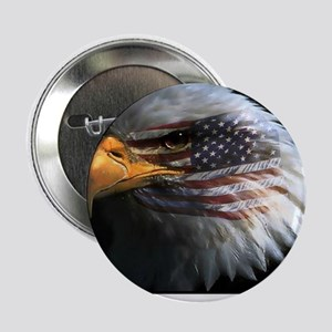 """eagle with text 2.25"""" Button"""