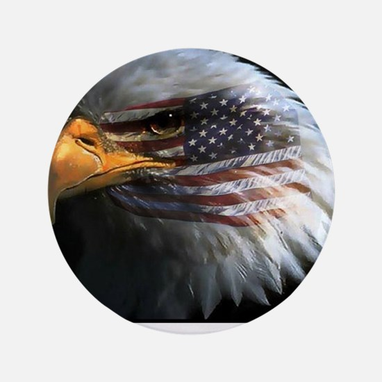 """eagle with text 3.5"""" Button"""