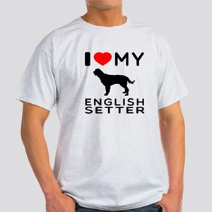 I Love My English Setter Light T-Shirt