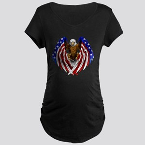 2-FLAGEAGL2 Maternity Dark T-Shirt