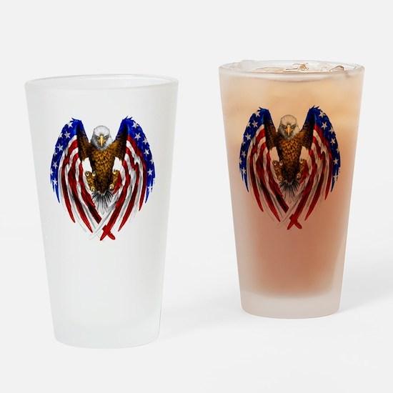 2-FLAGEAGL2 Drinking Glass