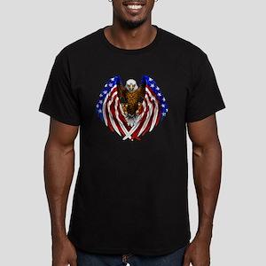 2-FLAGEAGL2 Men's Fitted T-Shirt (dark)