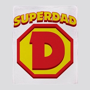 SuperDad Throw Blanket