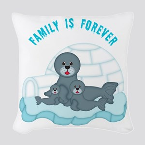 Family Woven Throw Pillow