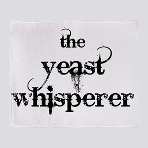yeast whisperer 2000 black no margin Throw Blanket