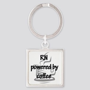 RN and coffee Square Keychain