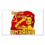 Comrade Clinton Rectangle Sticker