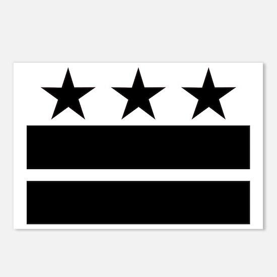 black_dcflag Postcards (Package of 8)