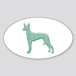 Paisley Pharaoh Oval Sticker