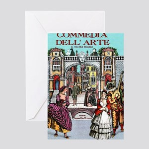 Commedia Plus Womens Tshirt Greeting Card