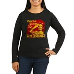 Comrade Clinton Women's Long Sleeve Dark T-Shirt