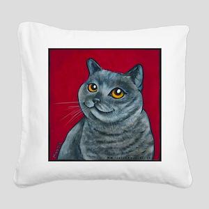 British Grey Blue Angel Square Canvas Pillow