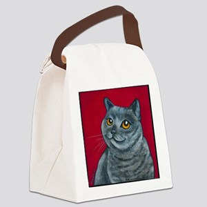 British Grey Blue Angel Canvas Lunch Bag
