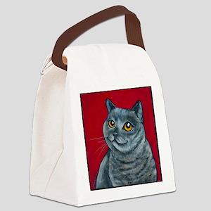 British Grey Blue Angel Canvas Lunch Bag