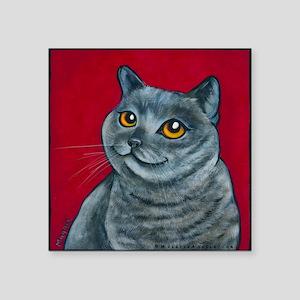 "British Grey Blue Angel Square Sticker 3"" x 3"""