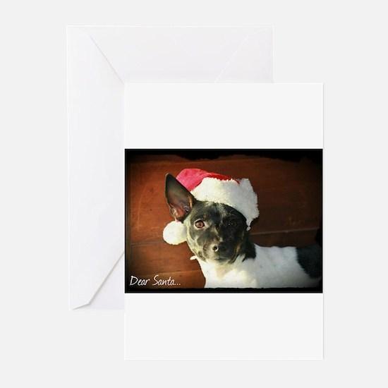 Dear Santa Rat Terrier Christmas Wishes Greeting C