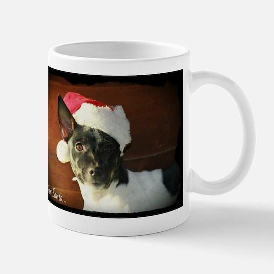 Dear Santa Rat Terrier Christmas Wishes Mugs
