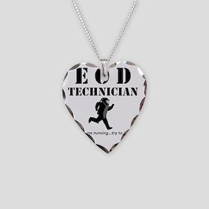 eod tech light Necklace Heart Charm