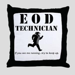 eod tech light Throw Pillow