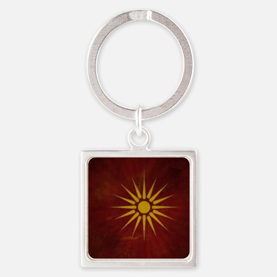 makedonsko_zname_by_dimovski Square Keychain