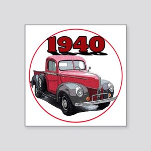 "40Fordpick-C8trans Square Sticker 3"" x 3"""