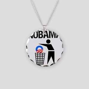 NoBama-(trash)-white-shirt Necklace Circle Charm
