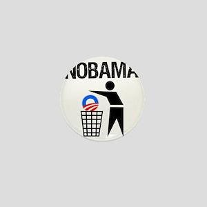NoBama-(trash)-white-shirt Mini Button