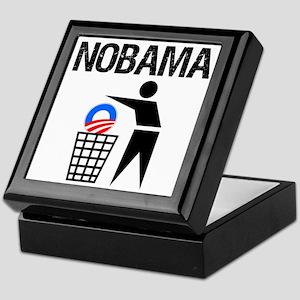 NoBama-(trash)-white-shirt Keepsake Box